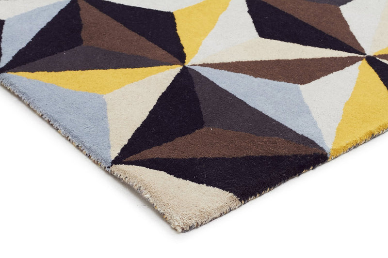 Matrix-Crystal Designer Wool Rug Blue-RUG HOME