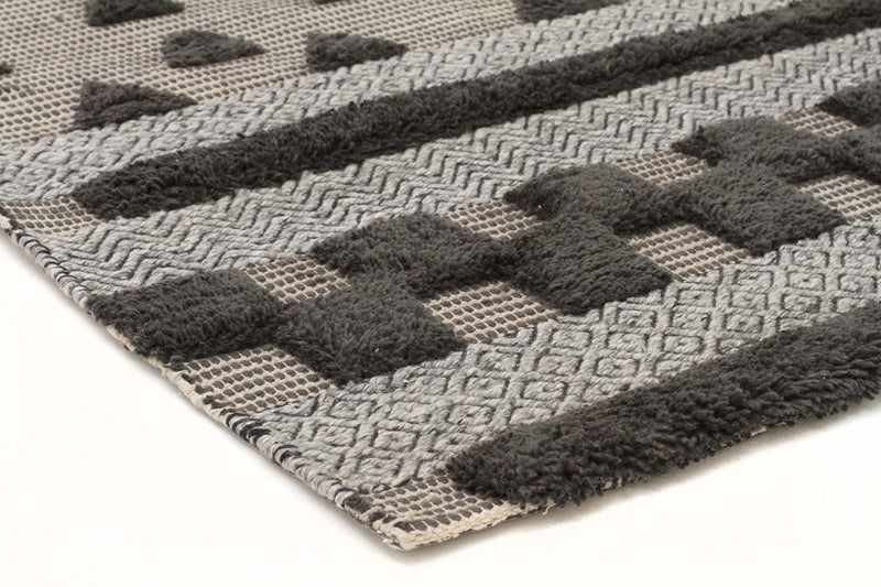 Miller-Rhythm Flow Charcoal Rug-RUG HOME