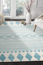 Mirage-Adani Modern Tribal Design sky Blue Rug-RUG HOME