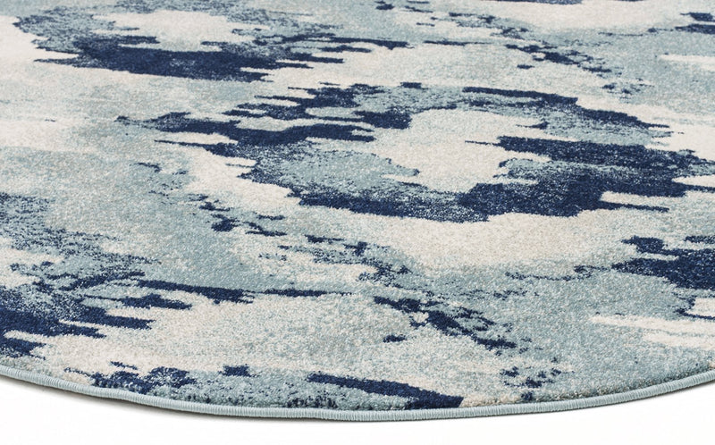 Mirage-Lesley Whimsical Blue Round Rug-RUG HOME