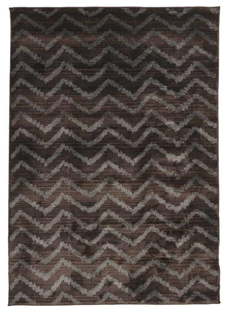 Morocco-Moroccan Chevron Design Rug Brown Grey-RUG HOME