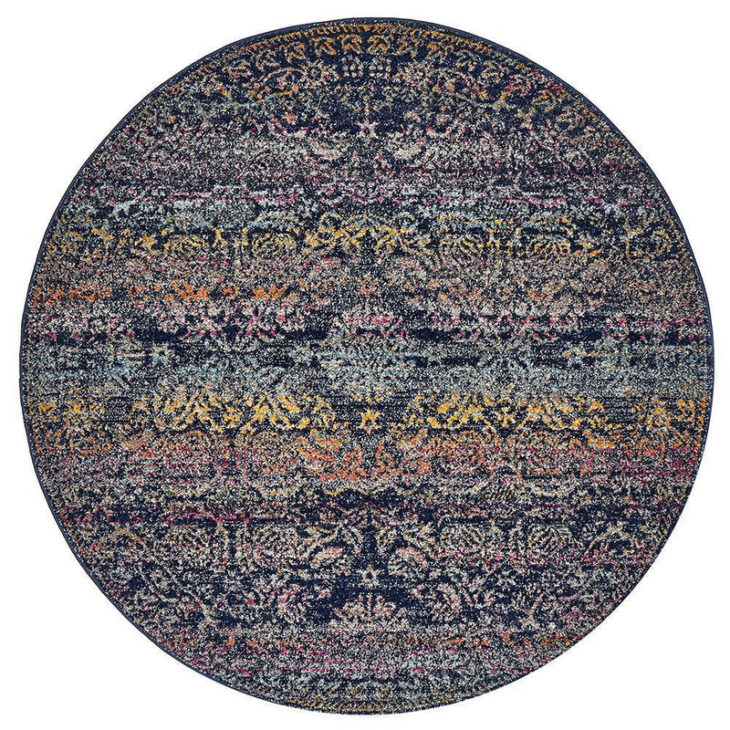 Museum-Museum Nelly Multi Coloured Round Rug-RUG HOME