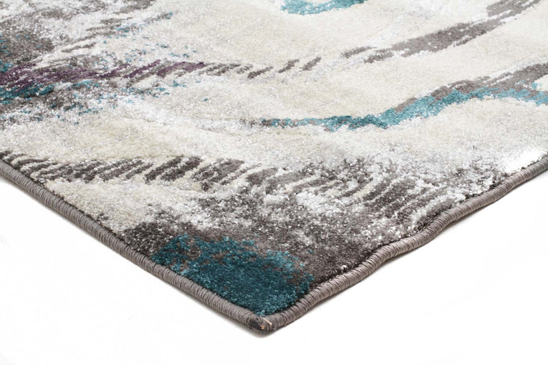 Nitro-Dillon Geo Modern Blue Grey Rug-RUG HOME
