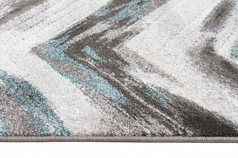 Nitro-Ella Chevron Modern Rug Grey Blue-RUG HOME