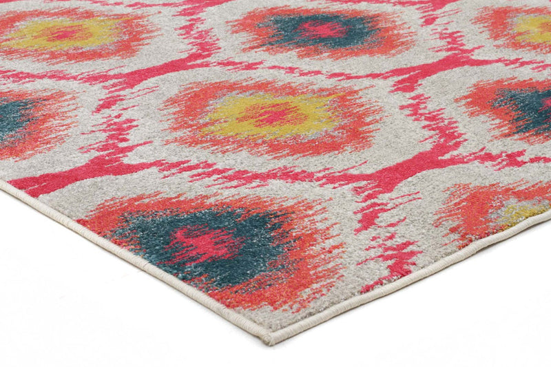 Nitro-Gypsy Heirloom Rug Pink Yellow Grey-RUG HOME