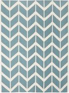 Nomad-Chevron Flat Weave Rug Blue-RUG HOME