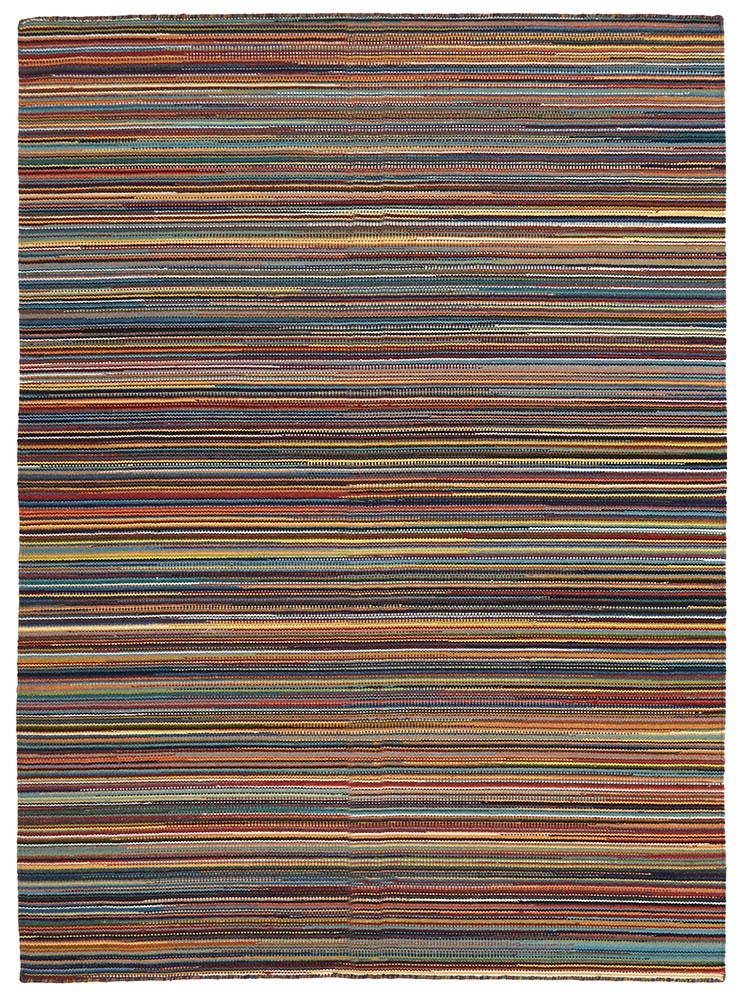 Nomad-Flat Weave Striped Design Rug Multi-RUG HOME