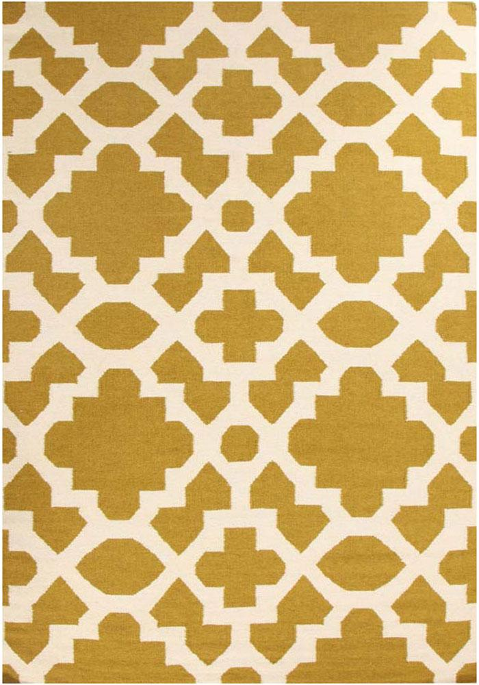 Nomad-Flat Weave Trellis Design Green White Rug-RUG HOME
