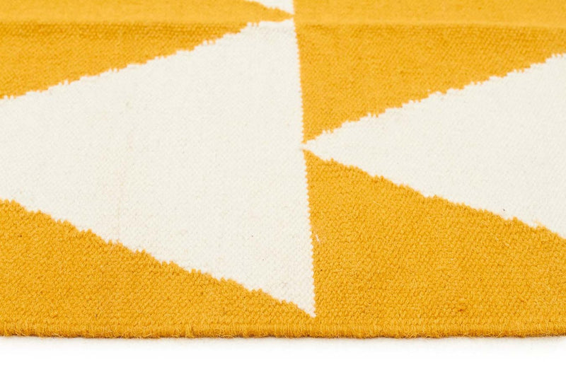 Nomad-Pyramid Flat Weave Rug Yellow-RUG HOME