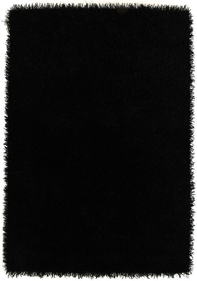 Orlando-Metallic Thick, Thin Shag Rug Black-RUG HOME