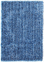 Orlando-Metallic Thick, Thin Shag Rug Blue and Navy-RUG HOME