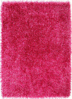 Orlando-Metallic Thick, Thin Shag Rug Fuchsia-RUG HOME