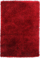 Orlando-Metallic Thick, Thin Shag Rug Red-RUG HOME