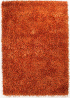 Orlando-Metallic Thick, Thin Shag Rug Rust-RUG HOME