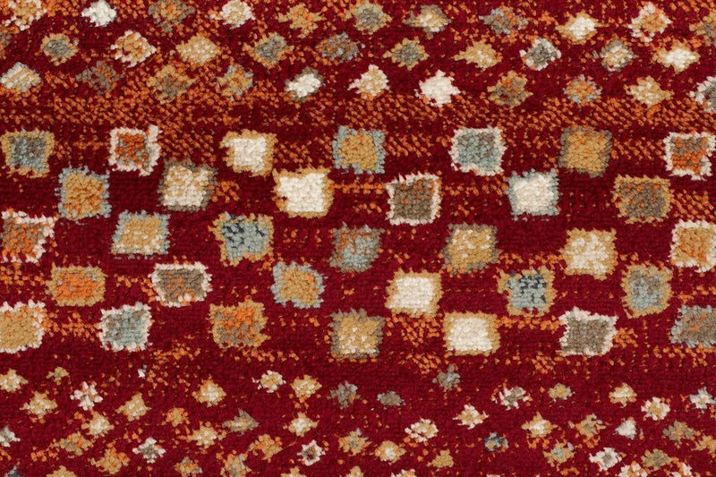 Oxford-Mayfair Squares Rust Rug-RUG HOME