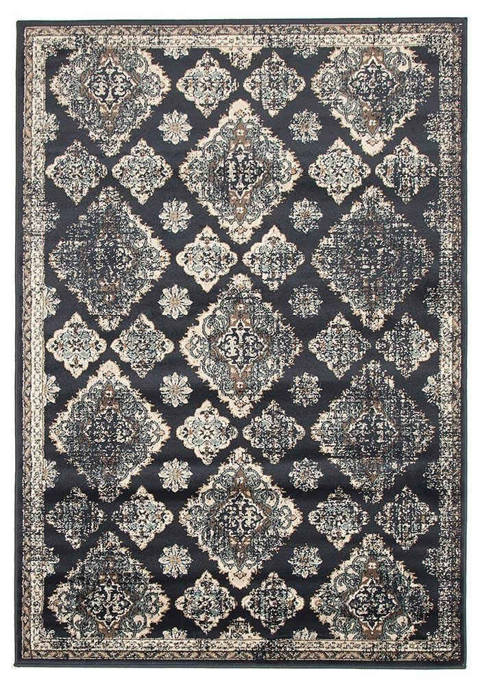 Oxford-Mayfair Timeline Navy Rug-RUG HOME