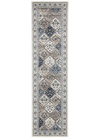 Palace-Palace Jamila Oriental Runner Rug White White-RUG HOME