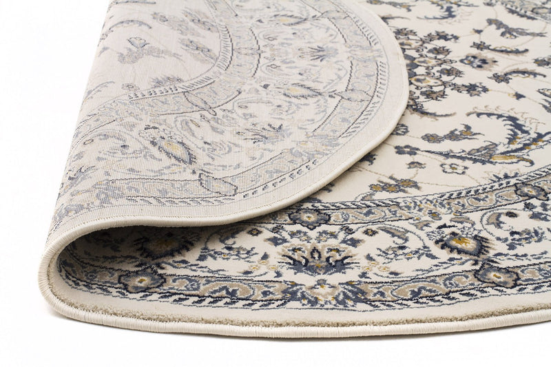 Palace-Palace Manal Oriental Round Rug White White-RUG HOME