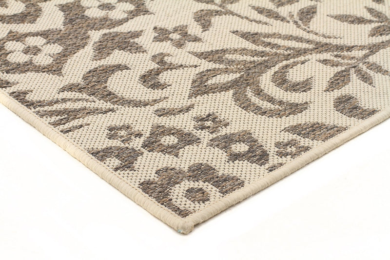 Pavillion-Coffee Indoor Outdoor Modern Beige Rug-RUG HOME