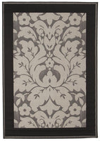 Pavillion-Indoor Outdoor Border Design Border Rug Grey-RUG HOME