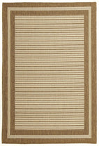 Pavillion-Indoor Outdoor Border Design Rug Brown-RUG HOME