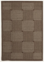 Pavillion-Indoor Outdoor Box Design Rug Brown-RUG HOME