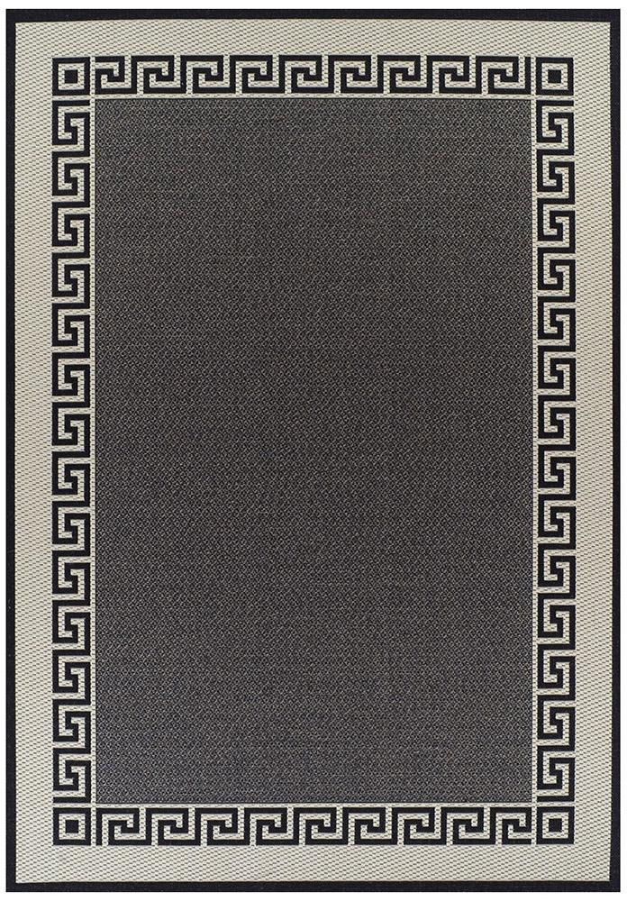 Pavillion-Indoor Outdoor Key Design Rug Charcoal-RUG HOME