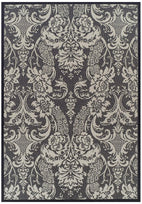 Pavillion-Indoor Outdoor Lace Design Rug Grey-RUG HOME