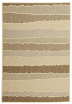 Pavillion-Indoor Outdoor Wave Rug Beige Brown-RUG HOME