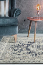 Providence-Esquire Brushed Traditional Blue Rug-RUG HOME