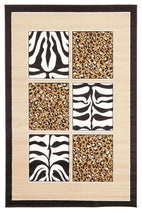 Silver BCF-African Print Black And Off White Rug-RUG HOME