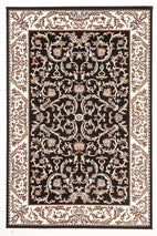 Silver BCF-Classic Patterned Rug Black-RUG HOME