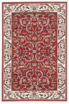 Silver BCF-Classic Patterned Rug Red-RUG HOME
