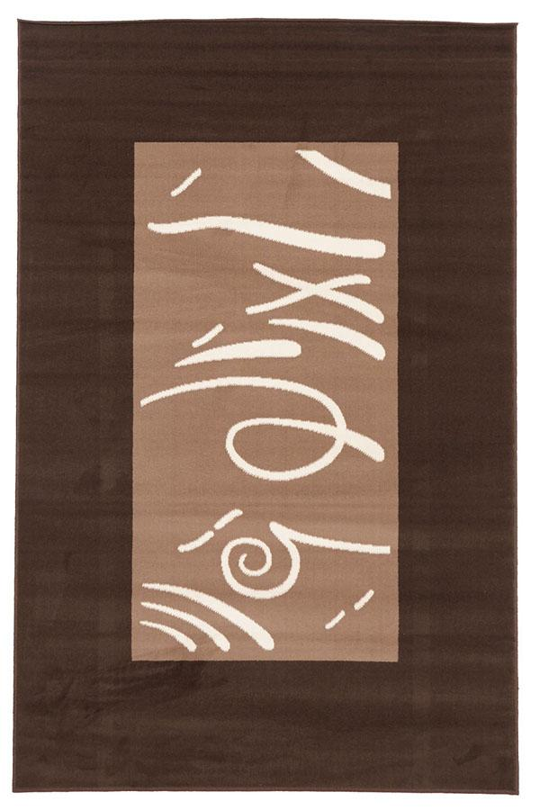 Silver BCF-Funky Pattern Rug Brown Beige Latte-RUG HOME