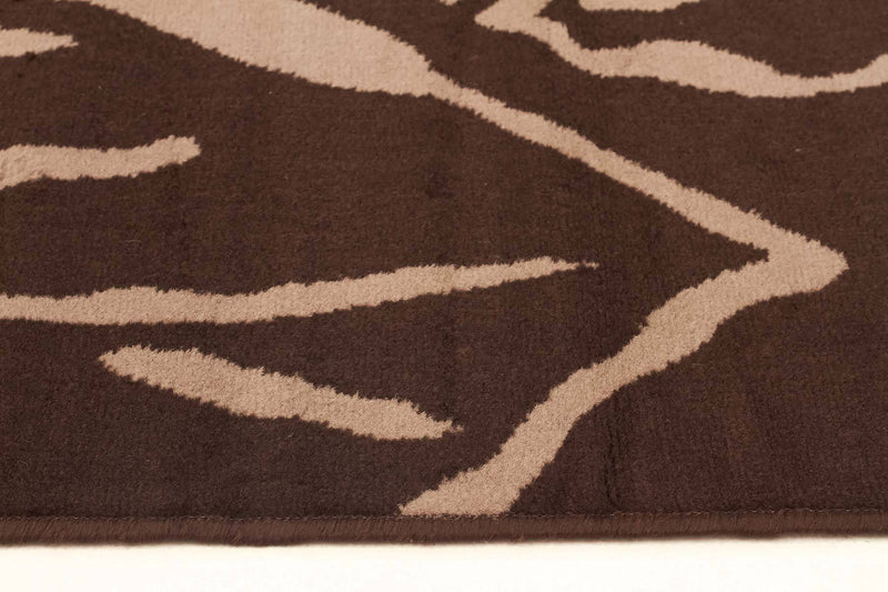 Silver BCF-Modern Flower Outline Rug Brown-RUG HOME