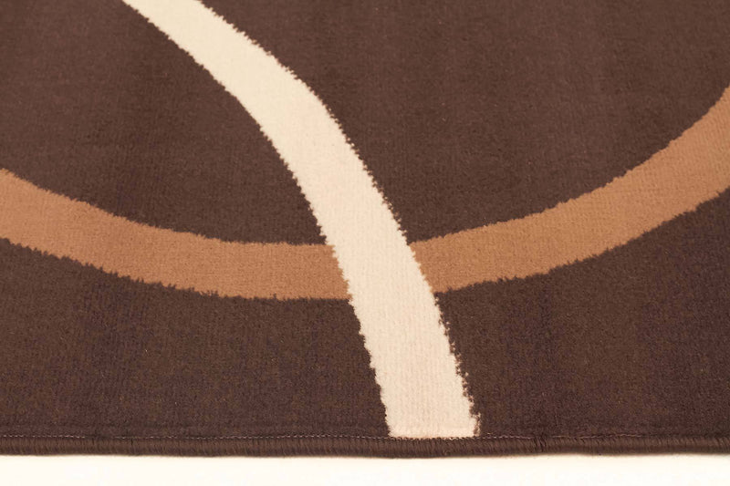 Silver BCF-Modern Rug Brown Beige Cream-RUG HOME