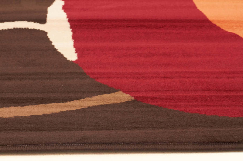 Silver BCF-Poppies Modern Rug Brown Rust-RUG HOME