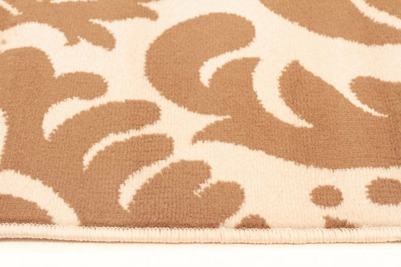 Silver BCF-Stunning Beige And Cream Pattern Rug-RUG HOME