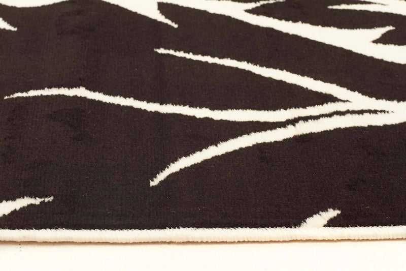 Silver BCF-Stunning Black Off White Pattern Rug-RUG HOME