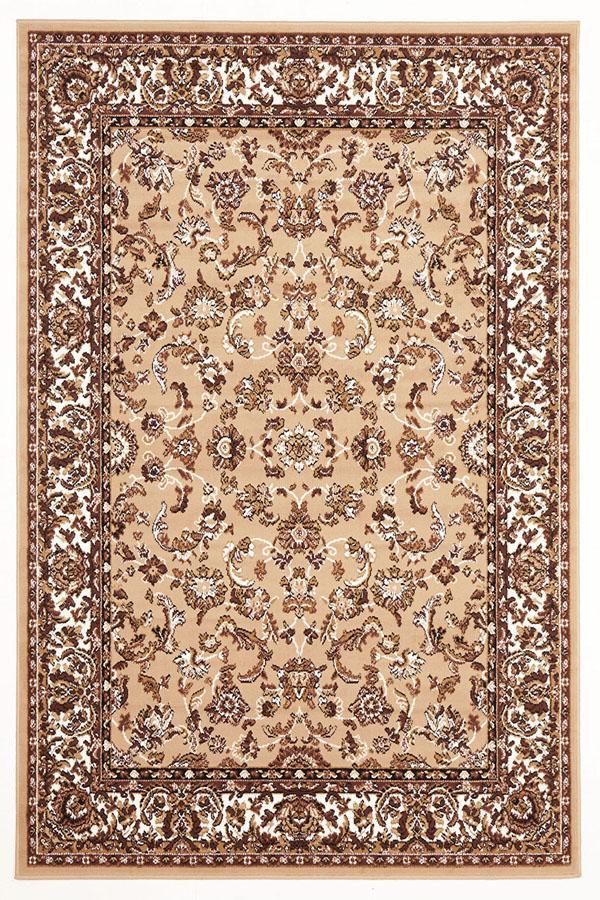Silver BCF-Traditional All Over Pattern Rug Beige-RUG HOME