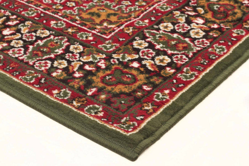 Silver BCF-Traditional Pattern Medallion Rug Green-RUG HOME
