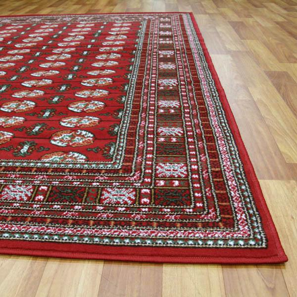 Silver BCF-Traditional Rug Burgundy And Black-RUG HOME