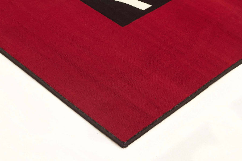 Silver BCF-Ultra Modern Zen Rug Red Black Off White-RUG HOME