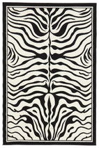 Silver BCF-Zebra Print Black And Off White Rug-RUG HOME