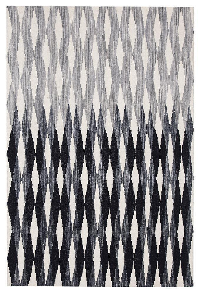 Studio-Frida Uber Gradient Rug Black Grey White-RUG HOME