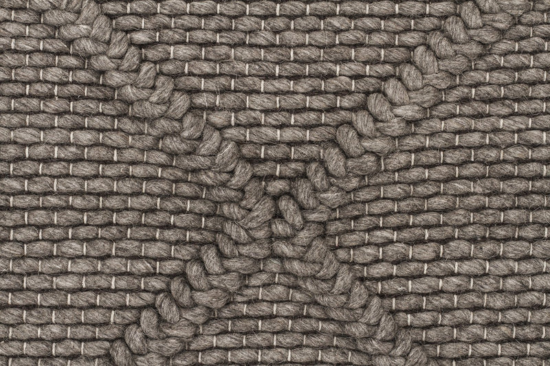 Studio-Oberg Wool Diamond Rug Grey Brown-RUG HOME