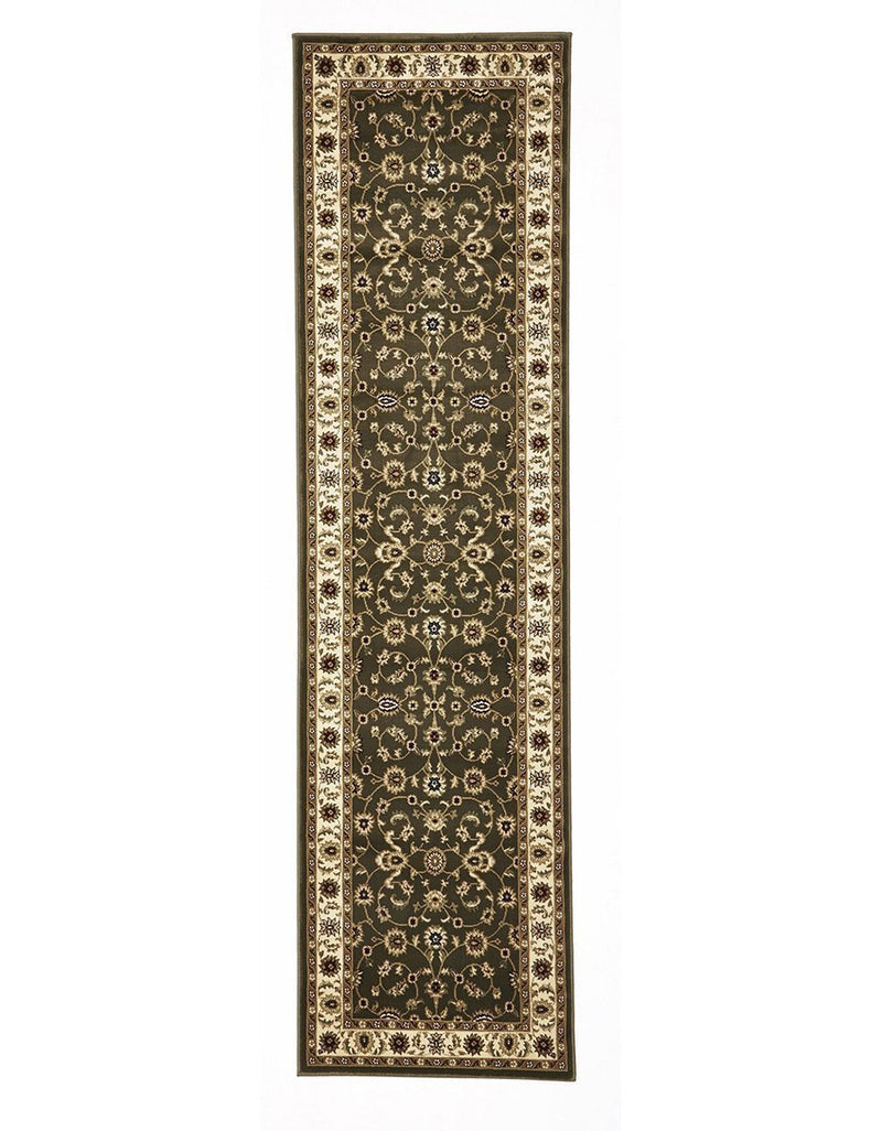 Sydney-Classic Rug Green with Ivory Border-RUG HOME