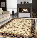Sydney-Classic Rug Ivory with Black Border-RUG HOME