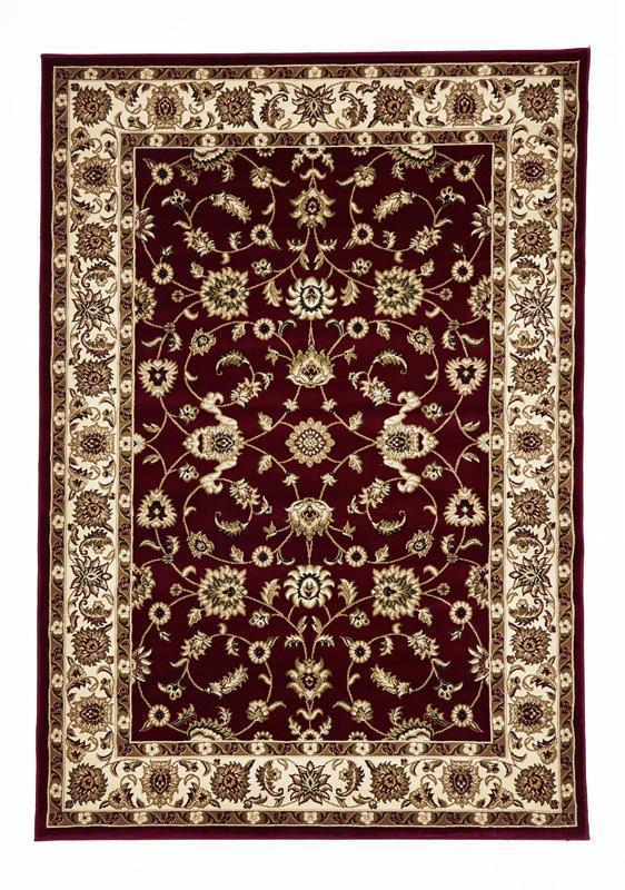 Sydney-Classic Rug Red with Ivory Border-RUG HOME