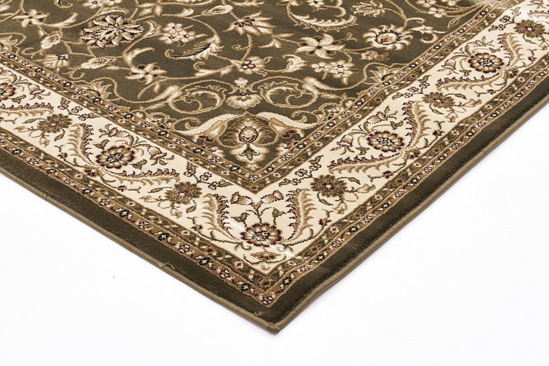 Sydney-Medallion Rug Green with Ivory Border-RUG HOME